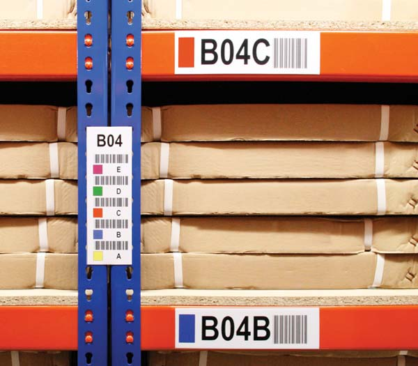 Warehouse Rack Bin Barcode Labels