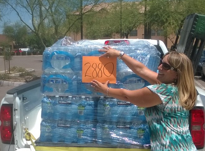 AB&R Gives Back Water drive 2015