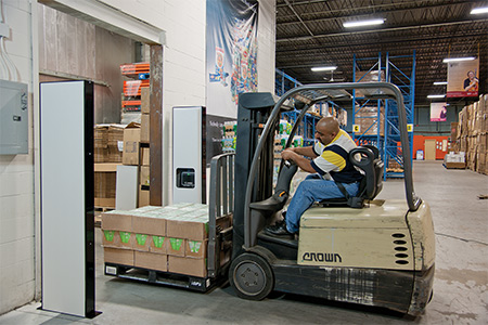 pallet through rfid: shipment verification