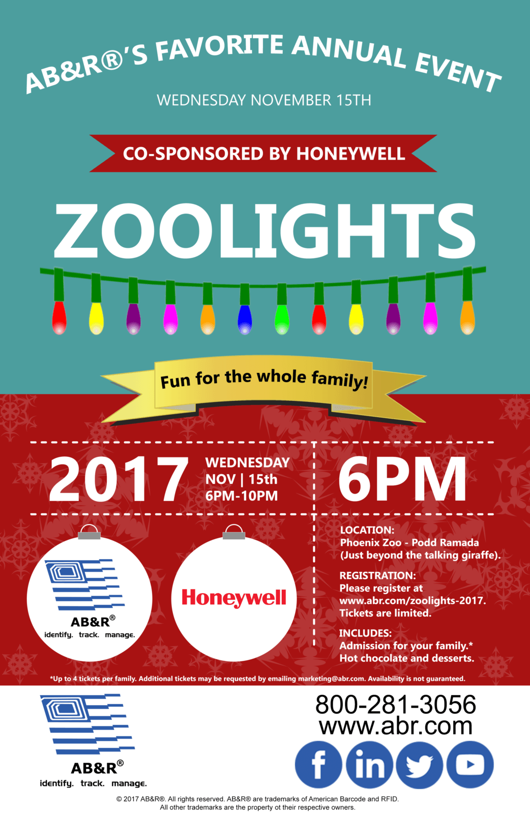 ABu0026R® And Honeywell Cordially Invite You And Your Family To Join Us For An  Evening At ZooLights.