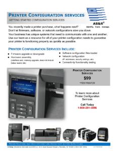 AB&R New Printer Configuration Services